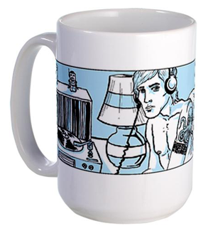 This is a Pretentious Record Store Guy Coffee Mug